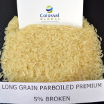 Long Grain Parboiled Premium Rice 5% Broken, Length: 5.9-6.0 mm, 100% sortex